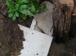 Flagstone and kitchen tile cover the habitat's grotto.